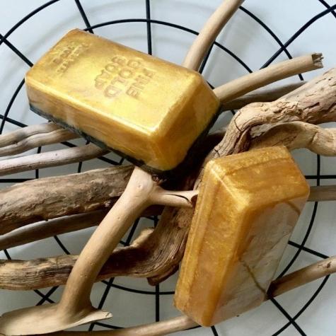 Mydło organiczne sztabka złota Dla niej