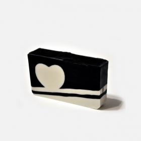 Mydło serce black & white
